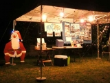 Our stand which includes Nigel's father xmas